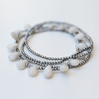 Saga White Jade Bracelet by Elaine Kim-Jewelry-Elaine Kim Studio-Elaine Kim Studio-travel wardrobe-office casual-independent designer