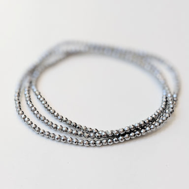 Saga Silver Plated Hematine Bracelet by Elaine Kim-Jewelry-Elaine Kim Studio-Elaine Kim Studio-travel wardrobe-office casual-independent designer