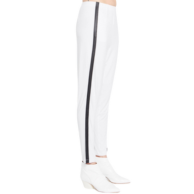 Jersey Easy Pant w/ Leather Side Stripe - QUAID