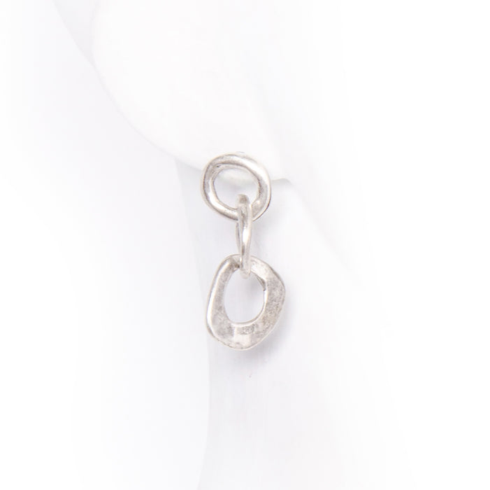 3 Circle Drop Earring - silver / o/s