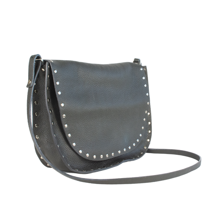 Pebble Leather Feedbag with Studs - STROMM