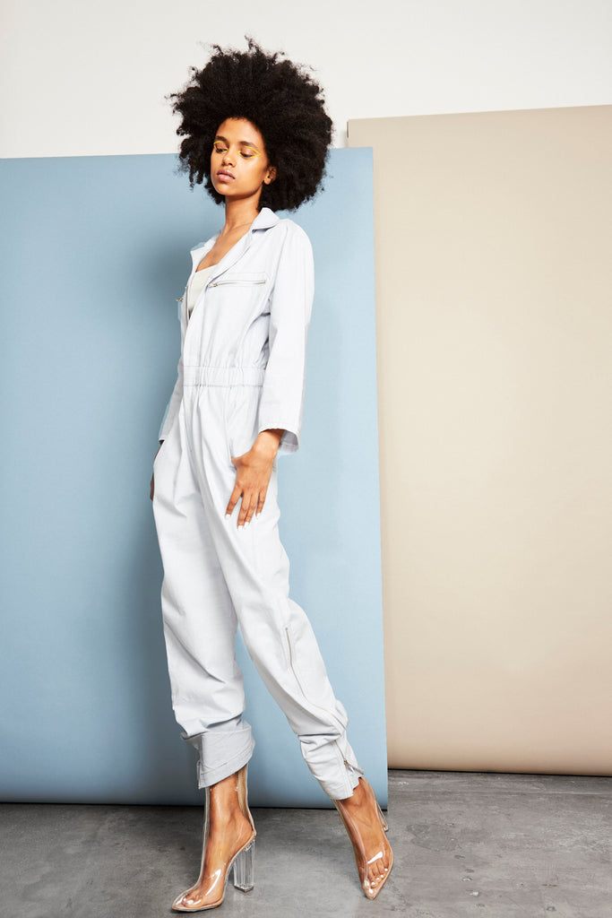 Rodney Chambray Zip-Up Boiler Jumpsuit
