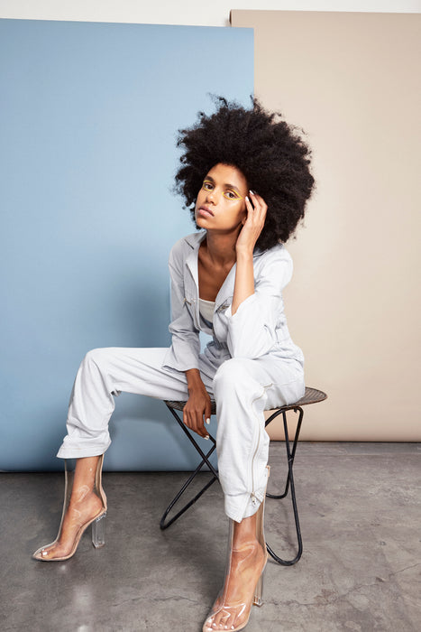 Rodney Chambray Zip-Up Boiler Jumpsuit-Jumpsuit-Elaine Kim-Elaine Kim Studio-travel wardrobe-office casual-independent designer