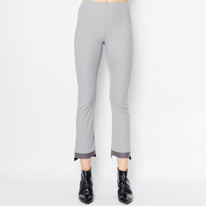 Olga Cropped Flare Tech Stretch Leggings with Step Hem-Pant-Elaine Kim-Elaine Kim Studio-travel wardrobe-office casual-independent designer