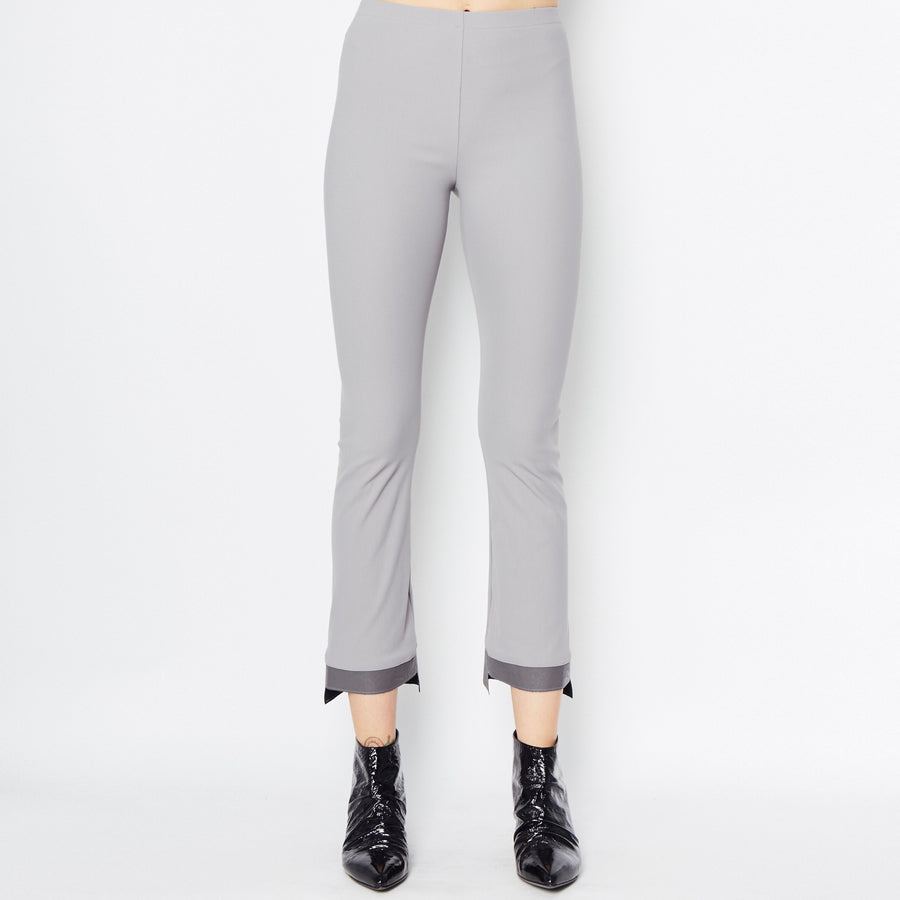 Olga Cropped Flare Tech Stretch Leggings with Step Hem