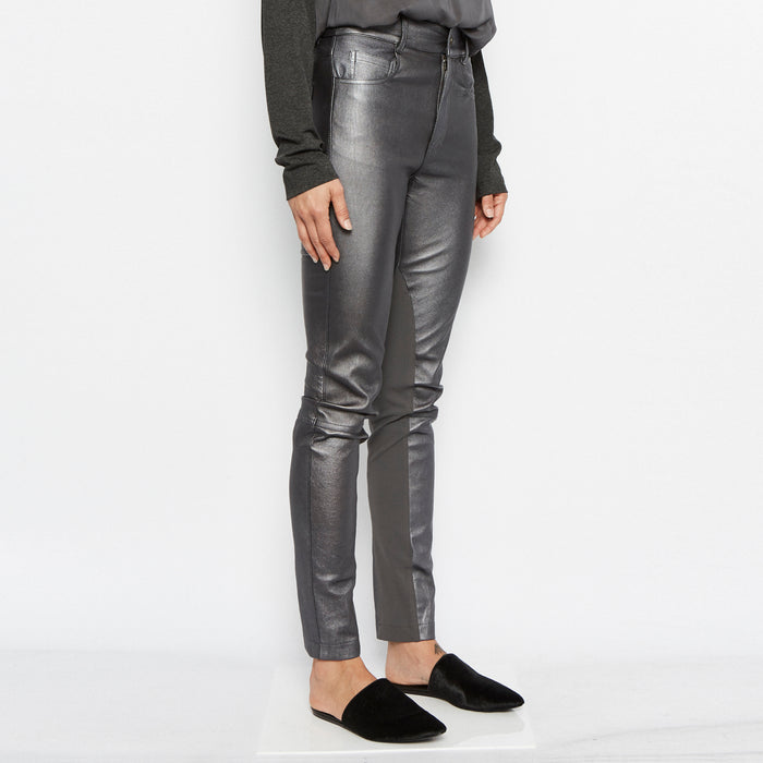 Paco Stretch Leather Jeans-Pant-Elaine Kim-Elaine Kim Studio-travel wardrobe-office casual-independent designer