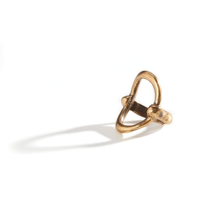 Open Wide Circle Ring - Brass Plated