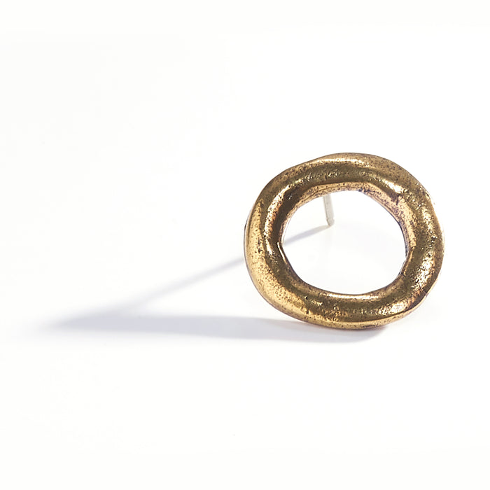 Small Round Earrings- Brass Plated