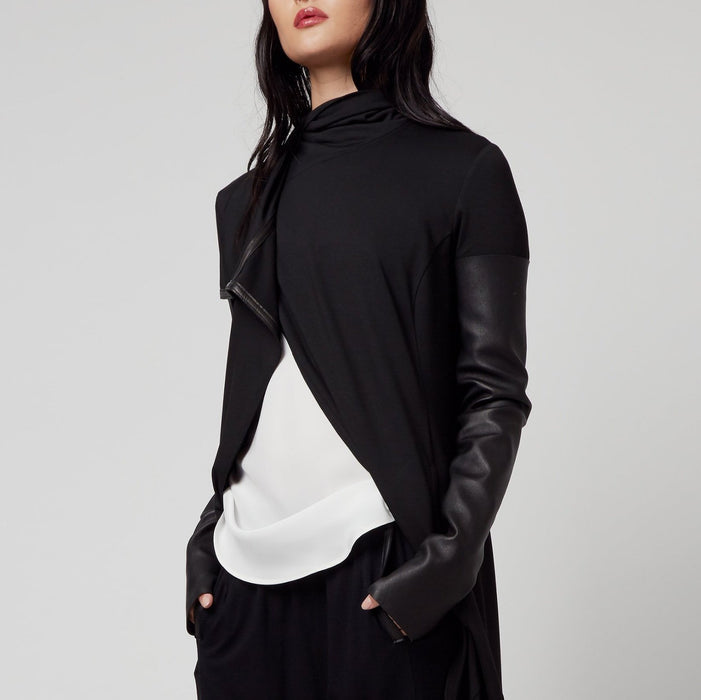 Doria Leather Sleeves-Accessory-Elaine Kim-Elaine Kim Studio-travel wardrobe-office casual-independent designer
