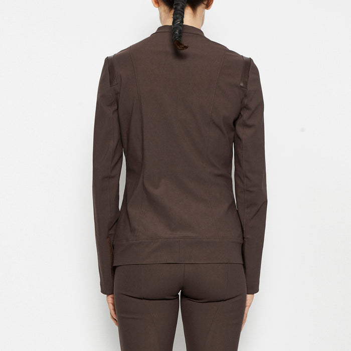 Quest Tech Stretch Moto Jacket-Jacket-Elaine Kim-Elaine Kim Studio-travel wardrobe-office casual-independent designer