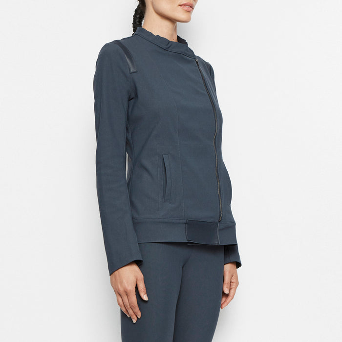 Quest Tech Stretch Moto Jacket-Jacket-Elaine Kim-Elaine Kim Studio