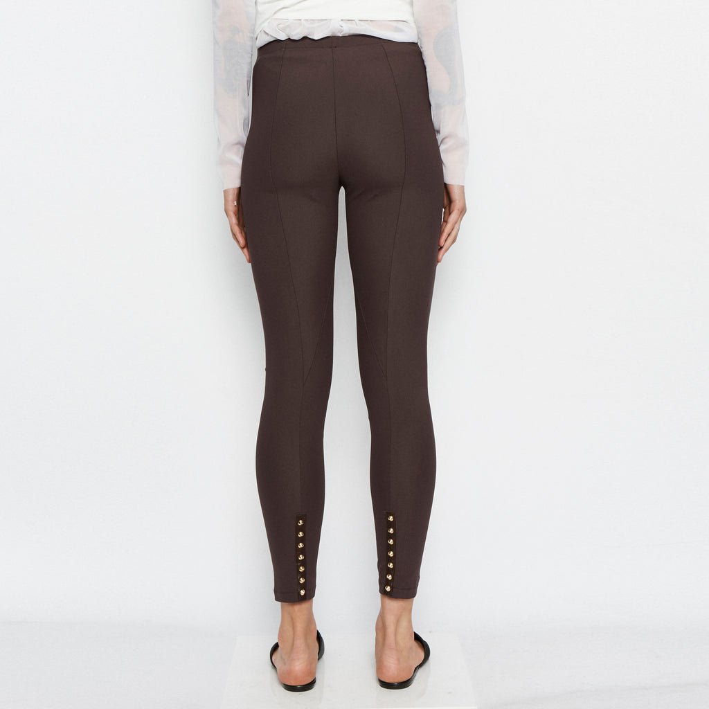 Quital Tech Stretch Leggings w/ Ankle Studs-Pant-Elaine Kim-Elaine Kim Studio