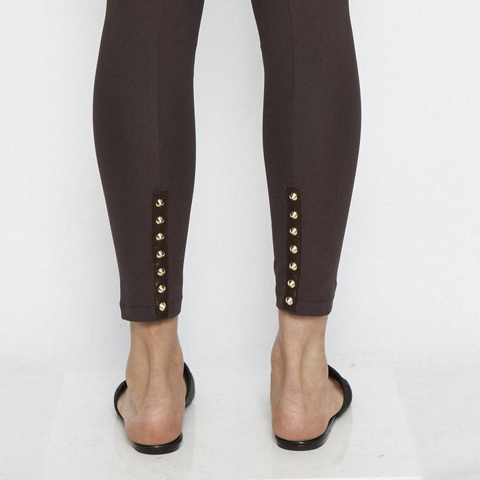 Quital Tech Stretch Leggings w/ Ankle Studs-Pant-Elaine Kim-Elaine Kim Studio-travel wardrobe-office casual-independent designer