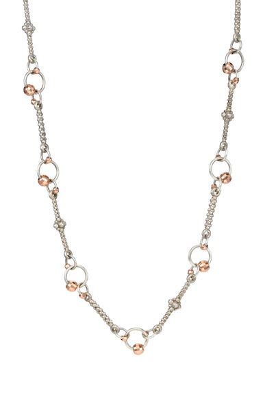 Rose Gold and Sterling Silver Chain Necklace