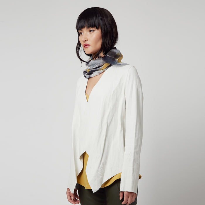 Montgomery Leather Envelope Jacket-Jacket-Elaine Kim-Elaine Kim Studio-travel wardrobe-office casual-independent designer