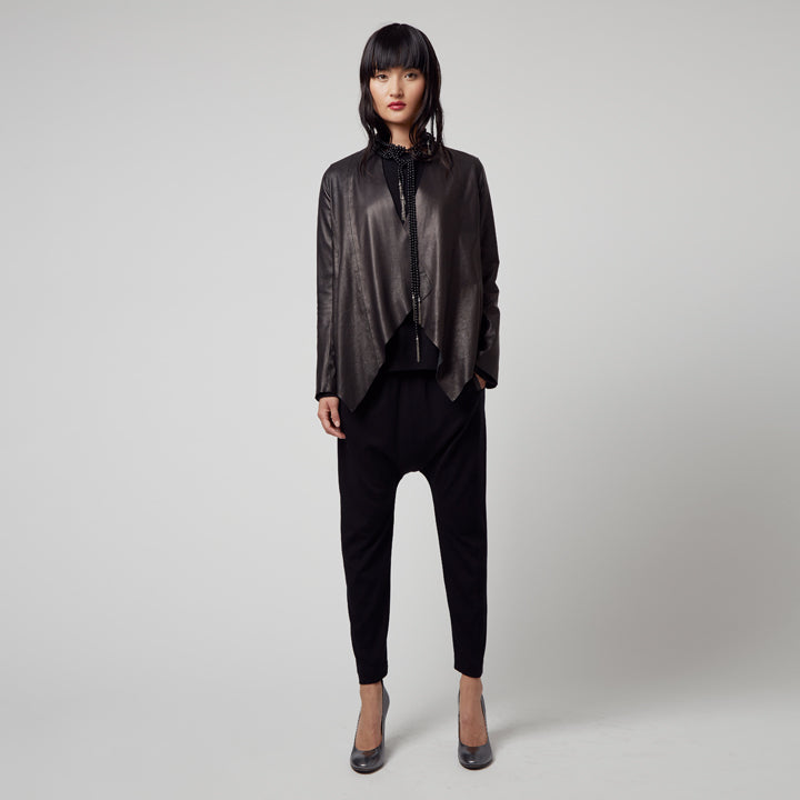 Montgomery Leather Envelope Jacket-Jacket-Elaine Kim-Elaine Kim Studio