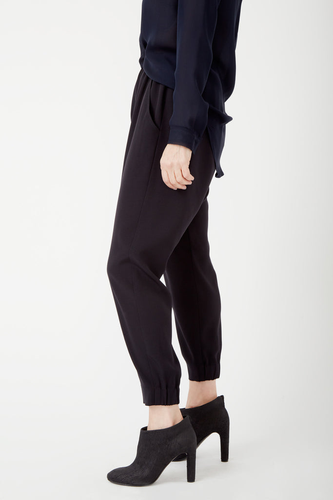 Maddox Silk Drop Crotch Pant