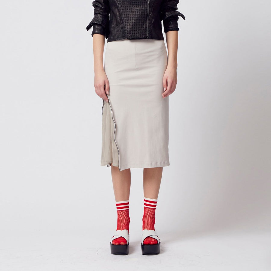 opal below the knee pencil skirt with side zipper by Elaine Kim
