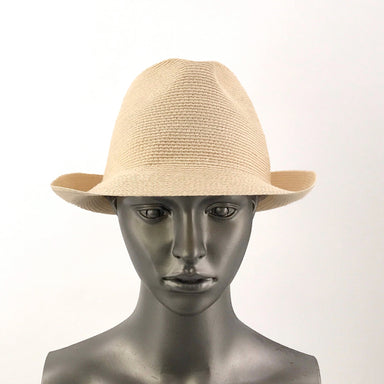 Gi'n'Gi Woven Trilby Hat-Hat-Gi'n'Gi Hats-Elaine Kim Studio-travel wardrobe-office casual-independent designer