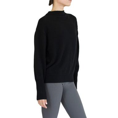 SEATON Cashmere Funnel Neck Top with Zipper Trim