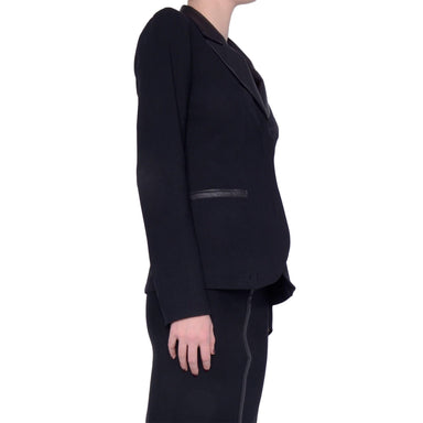 Tech Stretch Blazer with Leather Peak Lapel Siren