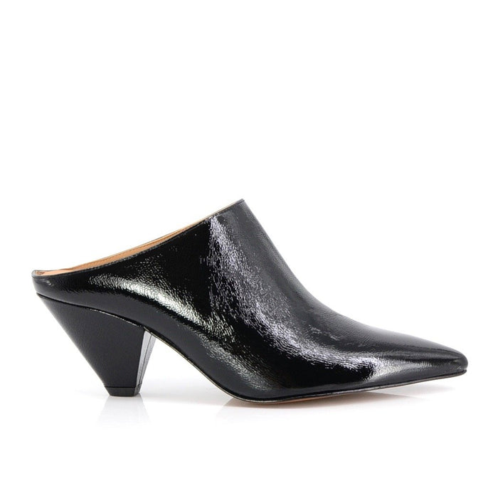 Elaine Kim Rhea Slip On Mule on Triangle Heel, Shoes, [collection] - Elaine Kim Studio, travel wardrobe, office casual, independent designer