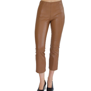 SUSRUTA Vegan Stretch Leather Crop Legging