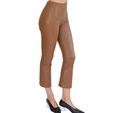 Vegan Stretch Leather Crop Legging - SUSRUTA