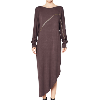 Rayon Jersey Asymmetric Dress - RONELLE