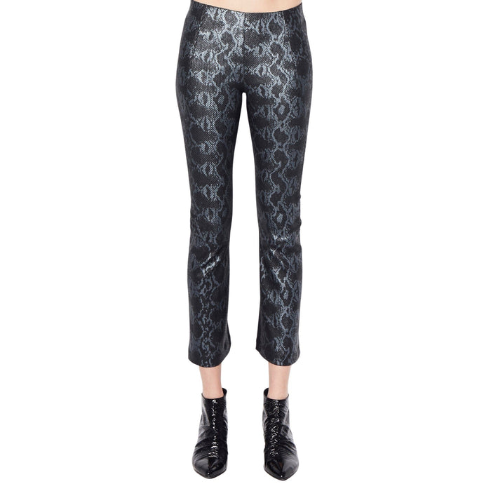 Cropped Flare Leather Pant -NITA