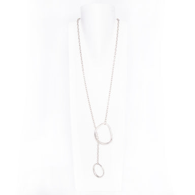 Double Circle Lariat - silver / os