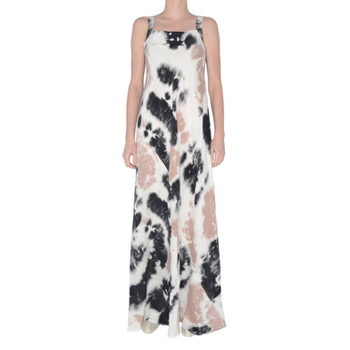 Silk Maxi Dress with Asymmetric Drawstring Shay