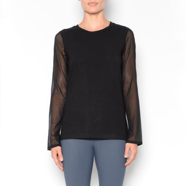 Neysha Jersey Tee W/ Chiffon Sleeves-Top-Elaine Kim-Elaine Kim Studio-travel wardrobe-office casual-independent designer