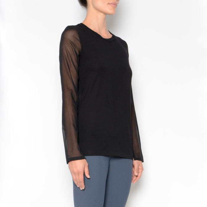 Neysha Jersey Tee W/ Chiffon Sleeves, Top, [collection] - Elaine Kim Studio, travel wardrobe, office casual, independent designer