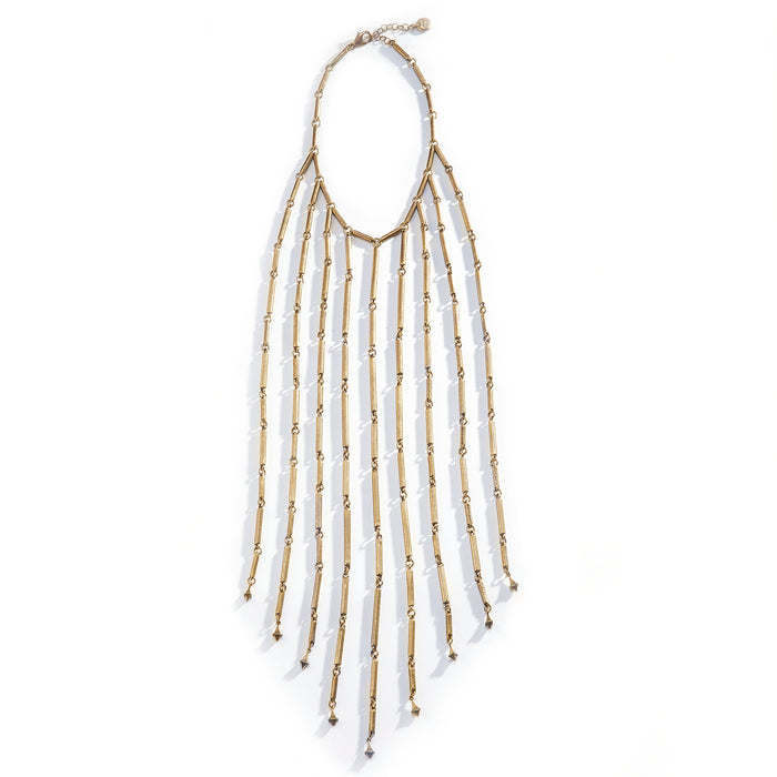 Fringe Necklace - Brass Plated