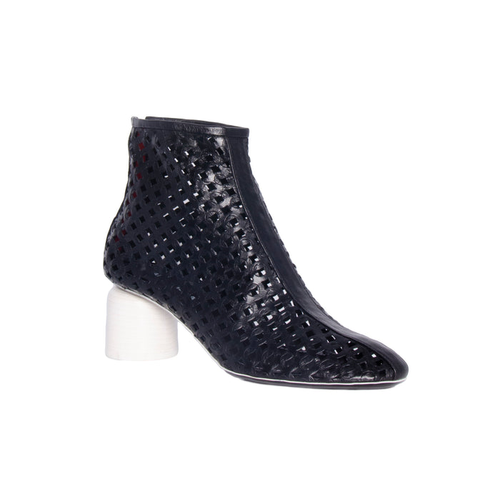 Halmanera Low Heel Caged Bootie