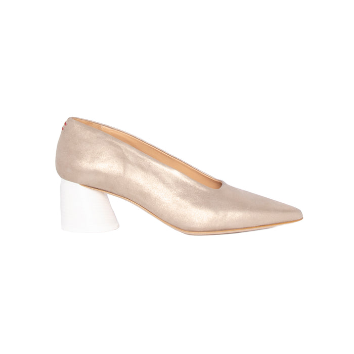 Halmanera Low Heel Pointy Toe Pump