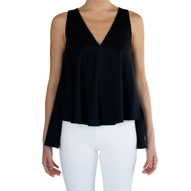 Cupro High Low V Neck Tank - SENECA