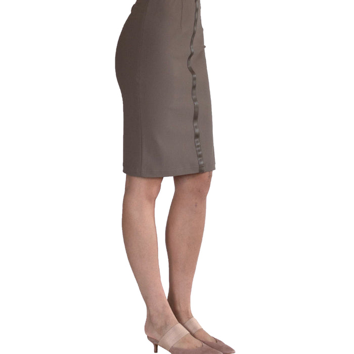 Tech Stretch Skirt with Leather Trim - SERIDA