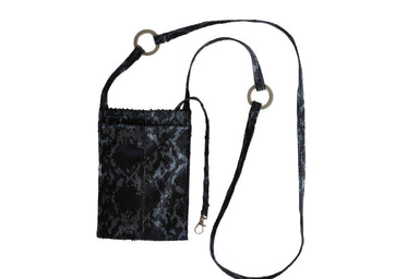 Cell Phone Pouch in Leather with Metal Ring - RIRI