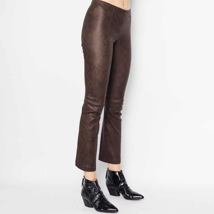 Nita Cropped Flare Leather Pant-Pant-Elaine Kim-Elaine Kim Studio-travel wardrobe-office casual-independent designer