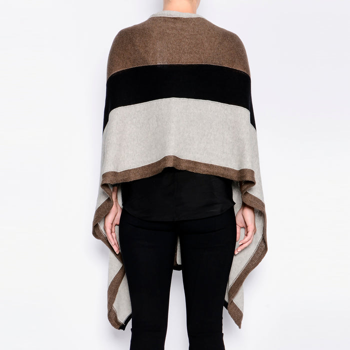 Powell Cashmere Cotton Zip Poncho-Sweater-Elaine Kim-Elaine Kim Studio-travel wardrobe-office casual-independent designer