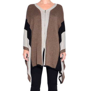 Powell Cashmere Cotton Zip Poncho