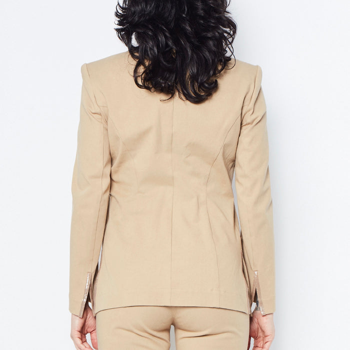 Queeton Stretch Cotton Blazer-Jacket-Elaine Kim-Elaine Kim Studio-travel wardrobe-office casual-independent designer