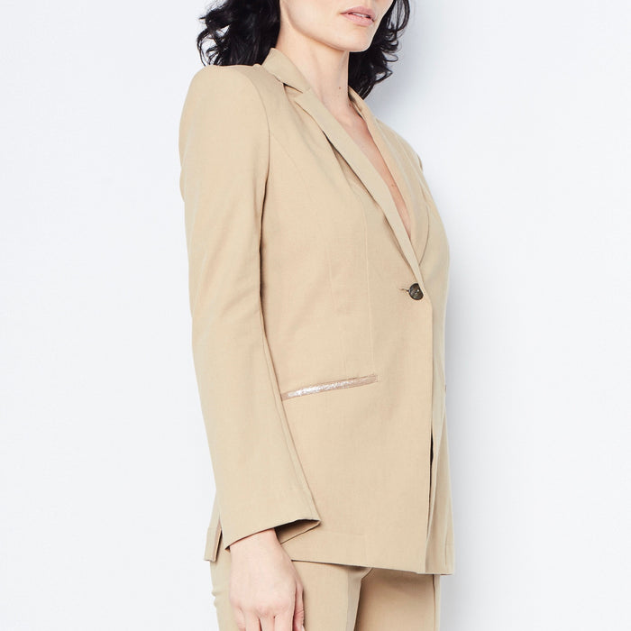Queeton Stretch Cotton Blazer, Jacket, [collection] - Elaine Kim Studio, travel wardrobe, office casual, independent designer