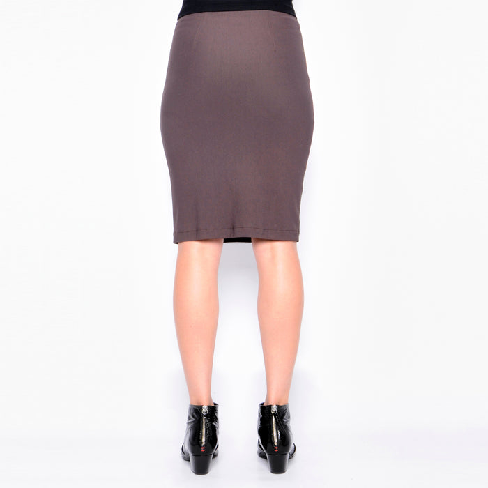 Reed Leather and Tech Stretch Pencil Skirt-Skirt-Elaine Kim-Elaine Kim Studio-travel wardrobe-office casual-independent designer