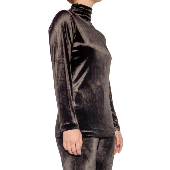 Reva Velvet Turtleneck Top