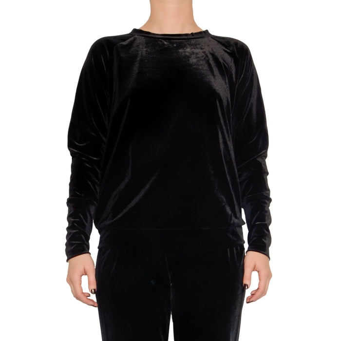 Revello Velvet Sweatshirt - Black / S