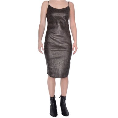 Leather Sheath Dress with Tech Stretch - RHANA