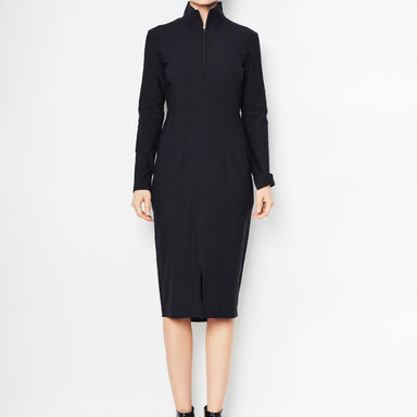 Rimini Tech Stretch Front Zip Dress - Black / P - Black / S - Black / M - Black / L - Black / XL